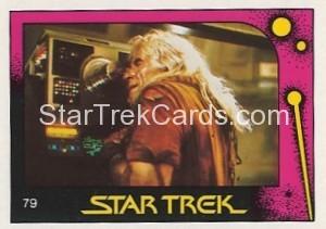 Star Trek II The Wrath of Khan Monty Gum Trading Card 79