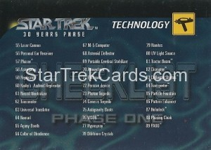 30 Years of Star Trek Phase One Trading Card 100