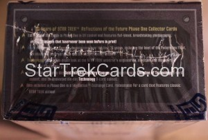 30 Years of Star Trek Phase One Trading Card Box Side