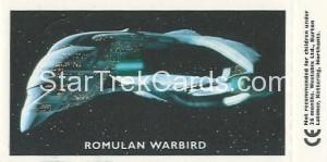 Star Trek TNG and Generations Weetabix Trading Card Data Riker Back