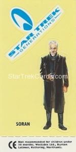 Star Trek TNG and Generations Weetabix Trading Card Generations Logo Soran