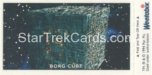 Star Trek TNG and Generations Weetabix Trading Card Soran Back
