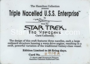 Star Trek The Voyagers Card Collection Trading Card Triple Nacelled USS Enterprise Back