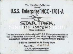 Star Trek The Voyagers Card Collection Trading Card USS Enterprise NCC 1701 A Back