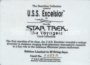 Star Trek The Voyagers Card Collection Trading Card USS Excelsior Back