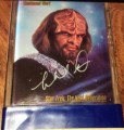 Star Trek Master Series One Trading Card Michael Dorn Autograph