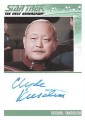 The Complete Star Trek The Next Generation Series 1 Trading Card Autograph Clyde Kusatsu