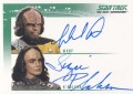 The Quotable Star Trek The Next Generation Trading Card Autograph Michael Dorn Suzie Plakson