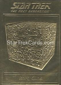 Star Trek Gold Sculptured Cards Borg Cube