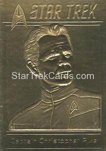 Star Trek Gold Sculptured Cards Captain Christopher Pike