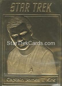 Star Trek Gold Sculptured Cards Captain James T Kirk Shatner