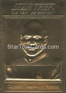 Star Trek Gold Sculptured Cards Captain Jean Luc Picard