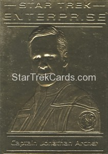 Star Trek Gold Sculptured Cards Captain Jonathan Archer