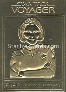 Star Trek Gold Sculptured Cards Captain Kathryn Janeway