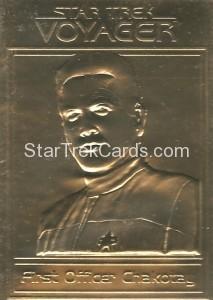 Star Trek Gold Sculptured Cards Chakotay