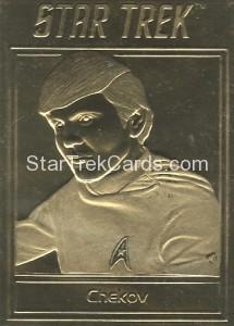 Star Trek Gold Sculptured Cards Chekov