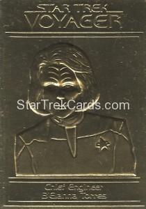 Star Trek Gold Sculptured Cards Chief Engineer BElanna Torres