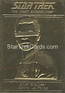 Star Trek Gold Sculptured Cards Chief Engineer Geordi La Forge