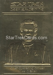 Star Trek Gold Sculptured Cards Chief Operating Officer Miles OBrien