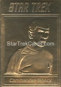 Star Trek Gold Sculptured Cards Commander Spock