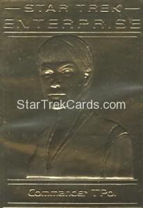 Star Trek Gold Sculptured Cards Commander TPol