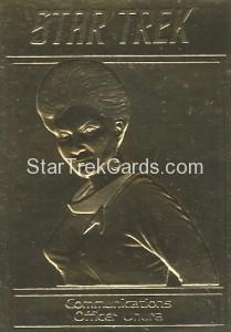 Star Trek Gold Sculptured Cards Communications Officer Uhura