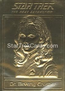Star Trek Gold Sculptured Cards Dr Beverly Crusher