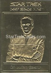 Star Trek Gold Sculptured Cards Dr Julian Bashir