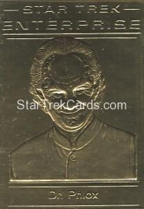 Star Trek Gold Sculptured Cards Dr Phlox