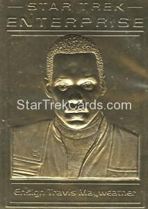 Star Trek Gold Sculptured Cards Ensign Travis Marweather
