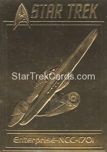 Star Trek Gold Sculptured Cards Enterprise NCC 1701