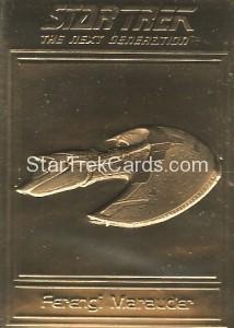 Star Trek Gold Sculptured Cards Ferengi Marauder