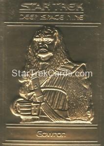 Star Trek Gold Sculptured Cards Gowron