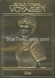 Star Trek Gold Sculptured Cards Kes