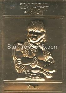 Star Trek Gold Sculptured Cards Khan