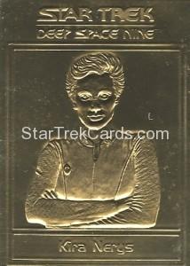 Star Trek Gold Sculptured Cards Kira Nerys