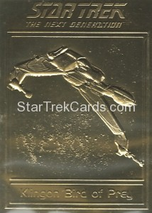 Star Trek Gold Sculptured Cards Klingon Bird of Prey
