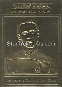 Star Trek Gold Sculptured Cards Lieutenant Commander Data