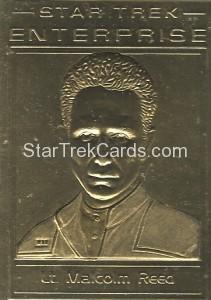 Star Trek Gold Sculptured Cards Lieutenant Malcom Reed