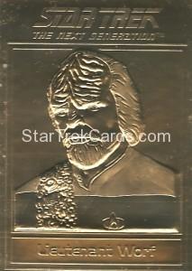 Star Trek Gold Sculptured Cards Lieutenant Worf
