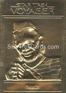 Star Trek Gold Sculptured Cards Neelix