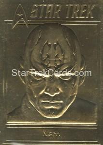 Star Trek Gold Sculptured Cards Nero