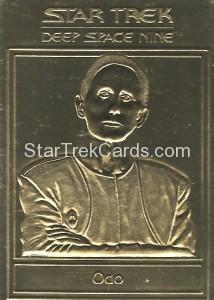 Star Trek Gold Sculptured Cards Odo