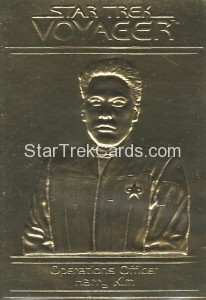 Star Trek Gold Sculptured Cards Operations Officer Harry Kim