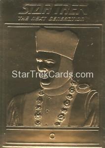 Star Trek Gold Sculptured Cards Q