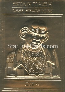 Star Trek Gold Sculptured Cards Quark