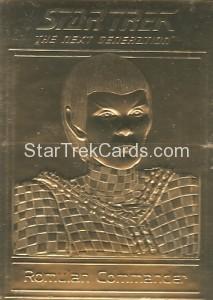 Star Trek Gold Sculptured Cards Romulan Commander