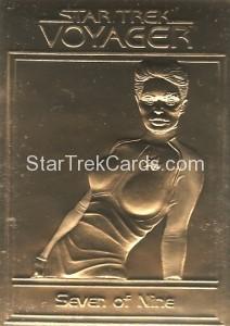 Star Trek Gold Sculptured Cards Seven of Nine