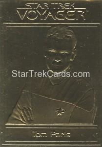 Star Trek Gold Sculptured Cards Tom Paris