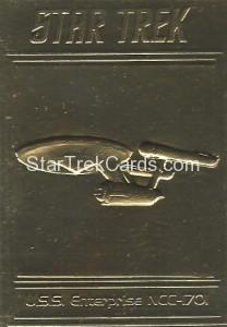 Star Trek Gold Sculptured Cards USS Enterprise NCC 1701